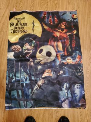 Nightmare before christmas rare fabric banner for Sale in Chicago, IL