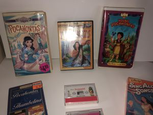 Pocahontas DVDs. VHS. Cassette Tapes. Kids Videos for Sale in Columbus, OH