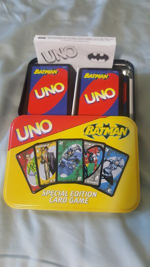 Complete Uno Batman Special Edition in tin case Like New for Sale in Huntingdon Valley, PA