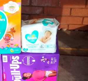 Pampers or pullups any size and wipes for Sale in Tucker, GA
