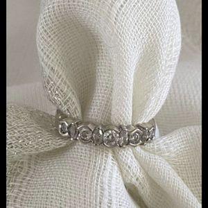 14 karat White gold diamonds wedding ring band Size 6 for Sale in Lynnwood, WA