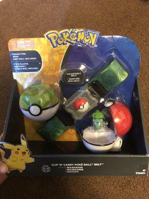 Pokemon Clip 'n' Carry Poke Ball Belt Bulbasaur & Nest Ball for Sale in Bellflower, CA