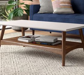 Large Sturdy Coffee Table - White & Wood for Sale in Seattle,  WA
