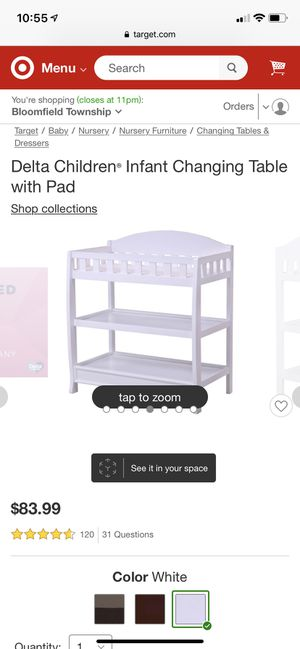 Changing table for Sale in West Bloomfield Township, MI