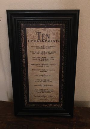 10 commandments framed picture for Sale in Eastvale, CA