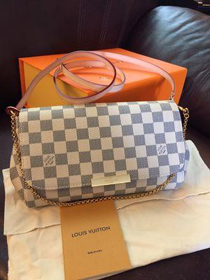 LV Louis Vuitton Damier Azur White Checkered Favorite MM Crossbody Bag Purse Handbagf for Sale in Aurora, IL
