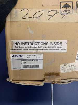Acura Parts. Splash guards for Sale in Pennsauken Township, NJ