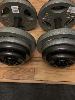 NEW DUMBELL SET ADJUSTABLE 100 LBS TOTAL WEIGHT for Sale in Chicago,  IL