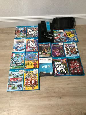 Nintendo Wii U with 16 games for Sale in Doral, FL
