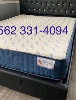 New Queen Size Black Tufted Bed With New Mattress Included for Sale in Caruthers,  CA