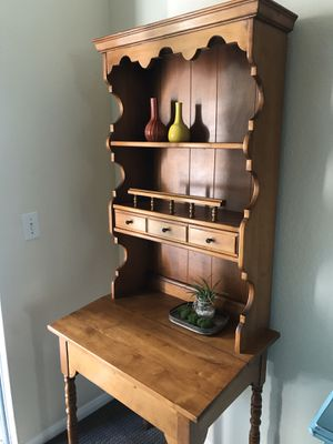 Secretary Desk Small table hutch French Country style storage shelves EXCELLENT for Sale in San Diego, CA