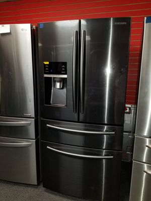"Samsung 33""wide French door black stainless steel refrigerator in excellent condition for Sale in McDonogh, MD"
