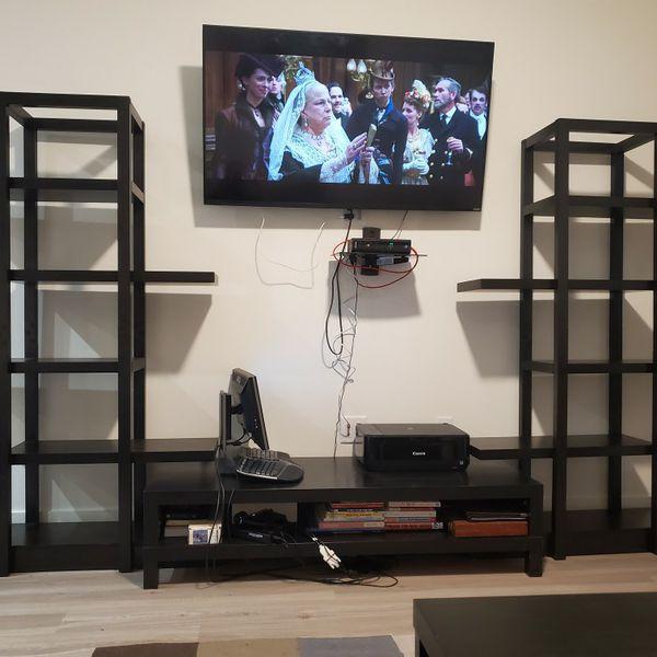 Bookshelves (2) - Dark Brown Bookshelf Modern Tall