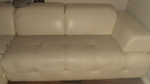 White leather small sectional FREE