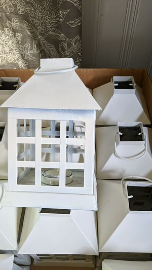 12 White lanterns-tea lights included! for Sale in Greensburg, PA