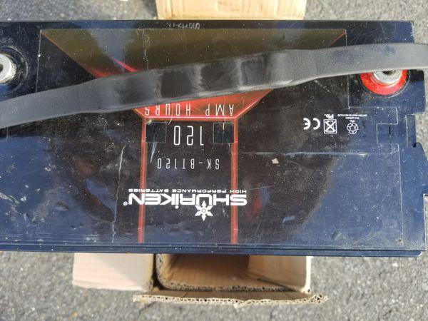 Shuriken battery. 120amp, 2400 CCA