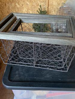 Set of 3 Chicken Wire Baskets for Sale in Garland,  TX