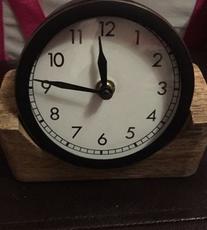 ALARM CLOCK BRUSHED COPPER W/REAL WOOD STAND!! for Sale in Saint Charles, MO