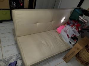 Leather futon free mint for Sale in Miami, FL