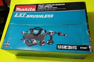 Makita 18V LXT LITHIUM-ION BRUSHLESS 2-PIECE COMBO KIT (HAMMER DRILL / IMPACT DRIVER) for Sale in Plainfield, IL