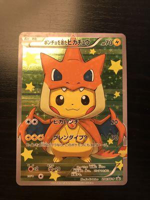 Pokemon card Charizard Poncho Pikachu Holo Japanese Promo Rare 208/XY-P for Sale in Anaheim, CA