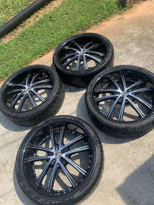 Size 22 rims machine black for Sale in Duluth, GA