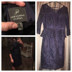 Adriana Papell Peplum sz 8 Navy for Sale in Scottsdale, AZ