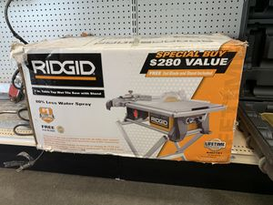 Ridgid Table Saw with Stand for Sale in Austin, TX