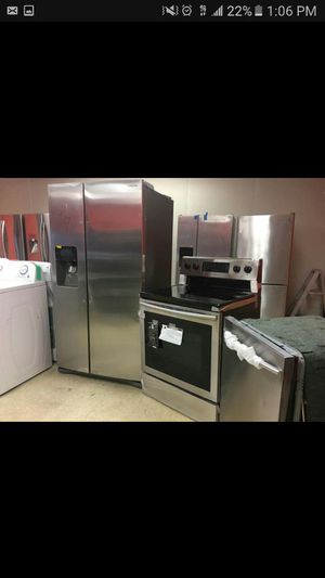 Stainless steel appliance packages on sale! 50% off retail! New scratch n dent! Delivery and warranty available! for Sale in Queens, NY