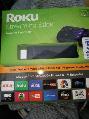 New Roku Streaming Stick (6th Generation) 3800RW VUDU Edition - Black 1080p HD for Sale in Brockton, MA