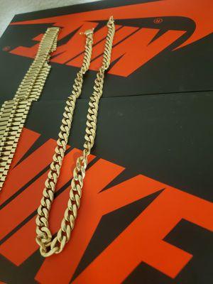 10k Rolex Chain 120grams 10k Cuban link 56grams for Sale in Phoenix, AZ