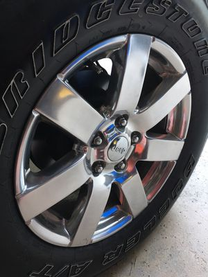 Jeep wheels and tires package deal!! ( 5 tires 5 rims) for Sale in Willow Spring, NC