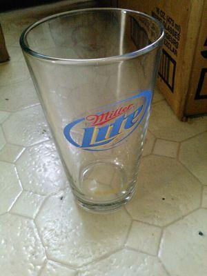 16 oz glass miller lite nice for a drink for Sale in Maynard, MA