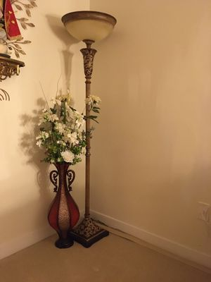Floor lamp with round shade for Sale in Columbia, MD