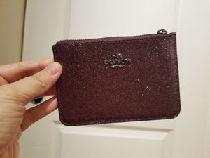 Authentic Coach Keychain Leather Shimmering Wallet. Rare! for Sale in Seattle, WA