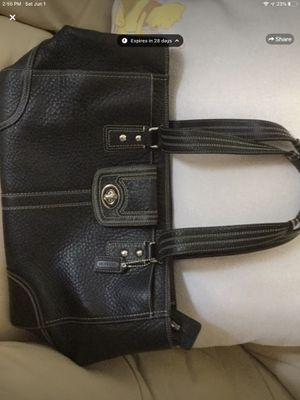 Coach Black Pebble Leather large tote F13960 for Sale in Montvale, NJ