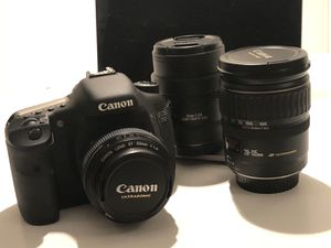 Canon 7D DSLR with 28-135 + 50mm + fisheye lenses for Sale in Seattle, WA