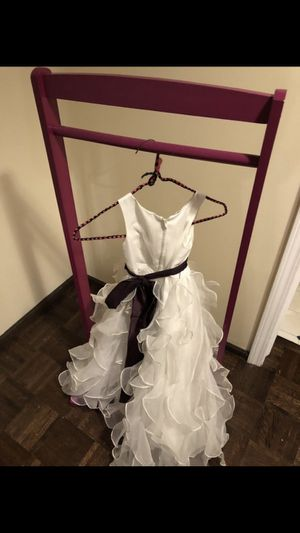 Flower girl dress and rack for Sale in Bloomingdale, IL
