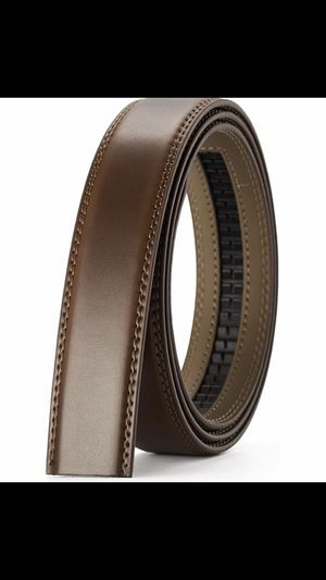 New Chaoren Burnt Umber Leather Belt Strap Only, Replacement Leather Belt Without Buckle for Sale in Norco, CA