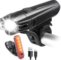 USB Rechargeable Bike Light Set, Super Bright LED Bike Lights Front and Back, Ultra Bright 4 Light Modes Bicycle Lights, Easy to Install for Kids Adul for Sale in Duluth,  GA
