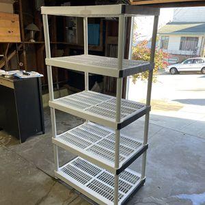 Home Depot Plastic Utility 5 Tier Shelf for Sale in San Francisco, CA