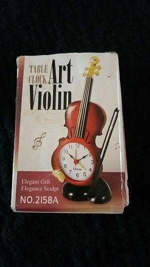 BRAND NEW MINI VIOLIN TABLE CLOCK! for Sale in Castro Valley, CA
