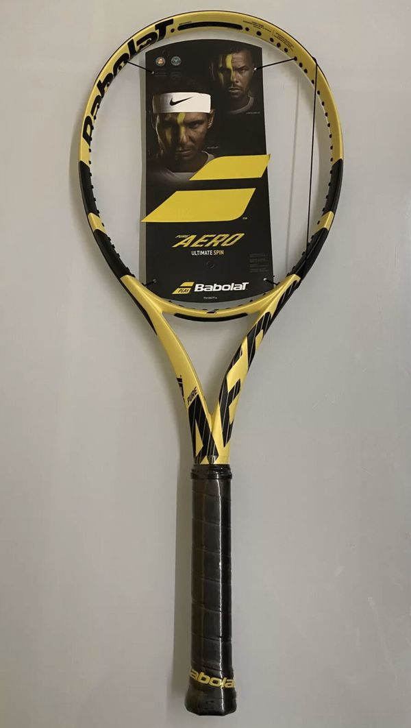NEW Babolat Pure Aero (2019) Tennis Racquet {link removed} Grip Size 4 1/4