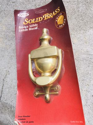 New Solid Brass Tarnish Free Door Knocker for Sale in Union City, NJ