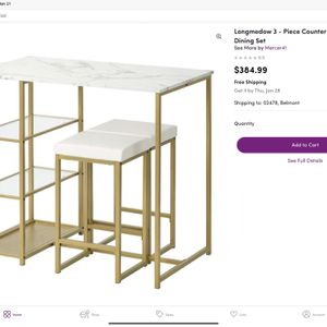 3- Piece Dining Set for Sale in Waltham, MA