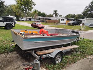 1981 Sea Nymph 16' Striper Aluminum Fishing Boat No Motor with trailer for Sale in St. Petersburg, FL