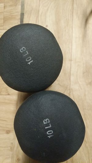 Two 10 pounds dumbbells for Sale in Upland, CA