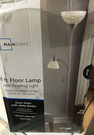 6ft floor lamp with reading light for Sale in Riverside, CA
