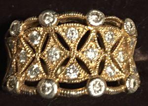 14k Large Vintage Diamonds Ring for Sale in Key Biscayne, FL