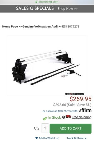 VW Audi Roof Luggage Rack for Sale in Claremont, CA